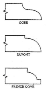 ogee, dupont, and french cove edge