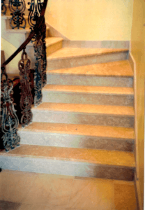 stairway fabricated and installed by Slabworks of Montana