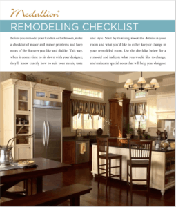 Medallion kitchen and bath remodel checklist
