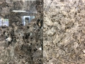 polished and honed granite