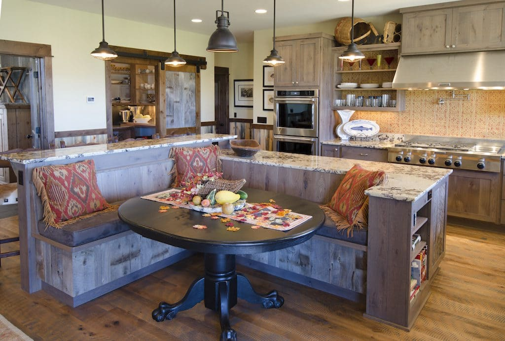 Island with bench seating - Slabworks of Montana custom countertop