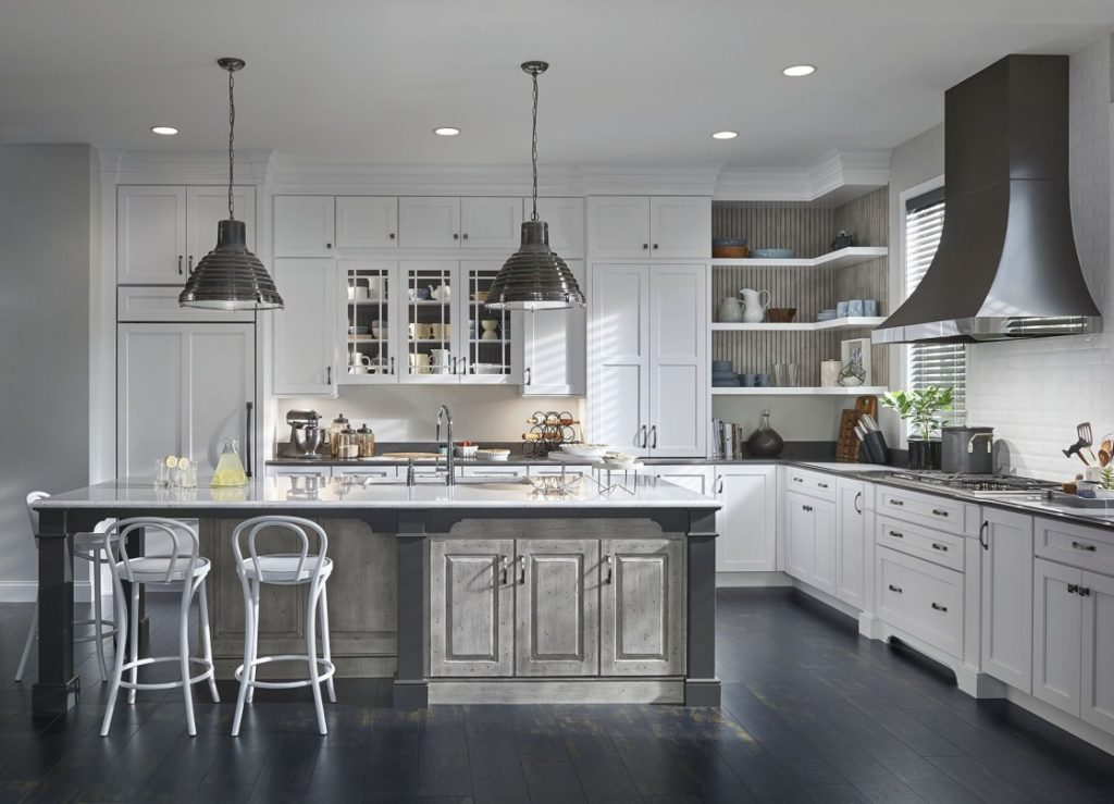 transitional kitchen counters