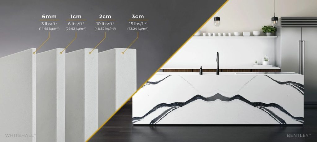 Cambria's new 6mm thickness countertop